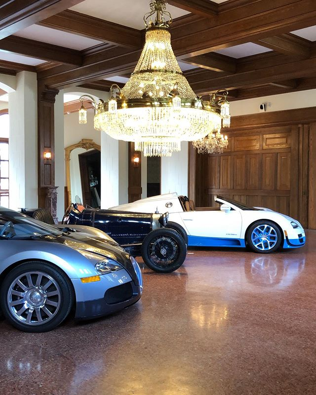 This is what Belcourt Castle will look like during the Concours & Motor Week this fall - the Bugatti Club of America along with @bugatti at the manufacturer level will celebrate 110 years of the historic marque with 30 cars scattered around this beautiful property. We brought two of our Veyron's today, and thanks to Tom from the Bugatti Club of America for bringing his 1929 Type 37A Grand Prix down for the shoot.