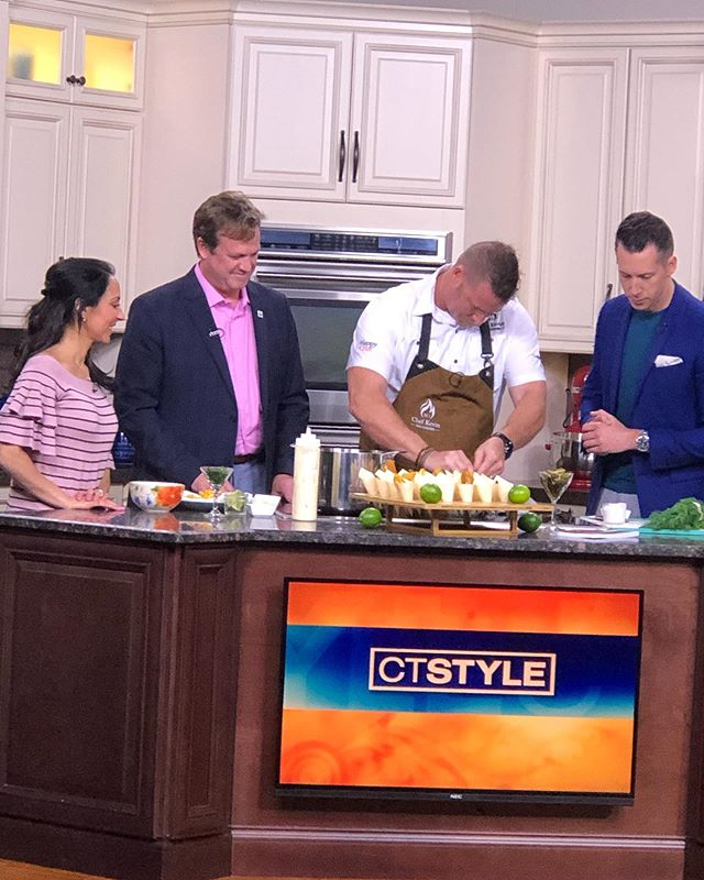 Had a blast on @ct.style with @chefkevd1 today promoting #audrainconcours2019!! Thanks for having us! Make sure to purchase your ticket to The Gathering on October 3rd to see Chef Kev live in action!