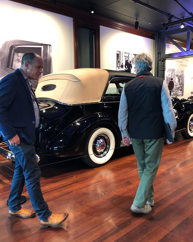 Thanks to @garthhammers from @goodingandcompany for stopping by today - so glad to have Gooding and Company on board as one of our founding sponsors for the Concours & Motor Week!