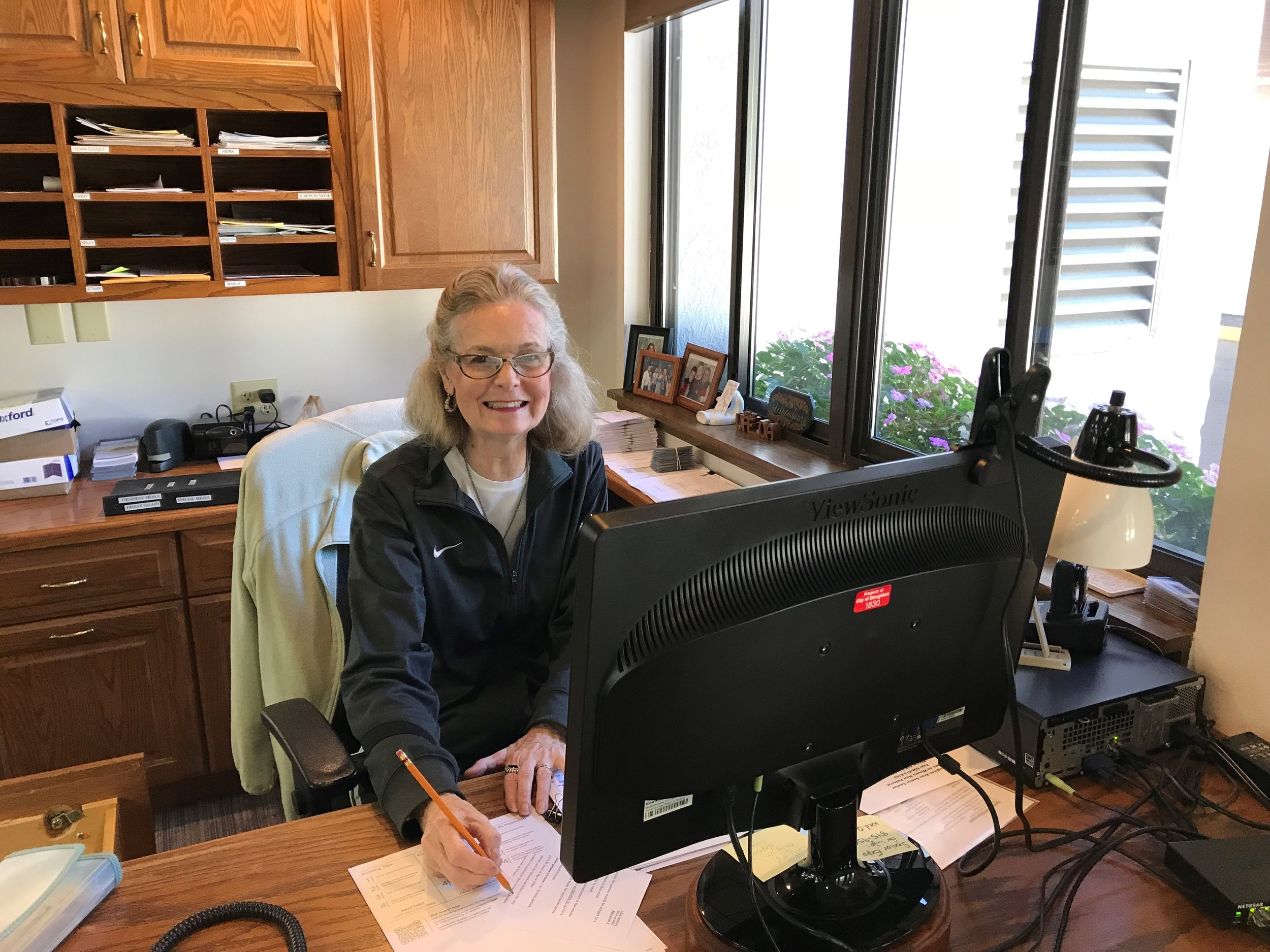 """""""I volunteer at the Senior Center because I believe it provides a very valuable service to seniors in our community. I also enjoy the interaction with other members and volunteers."""" -Rhona"""
