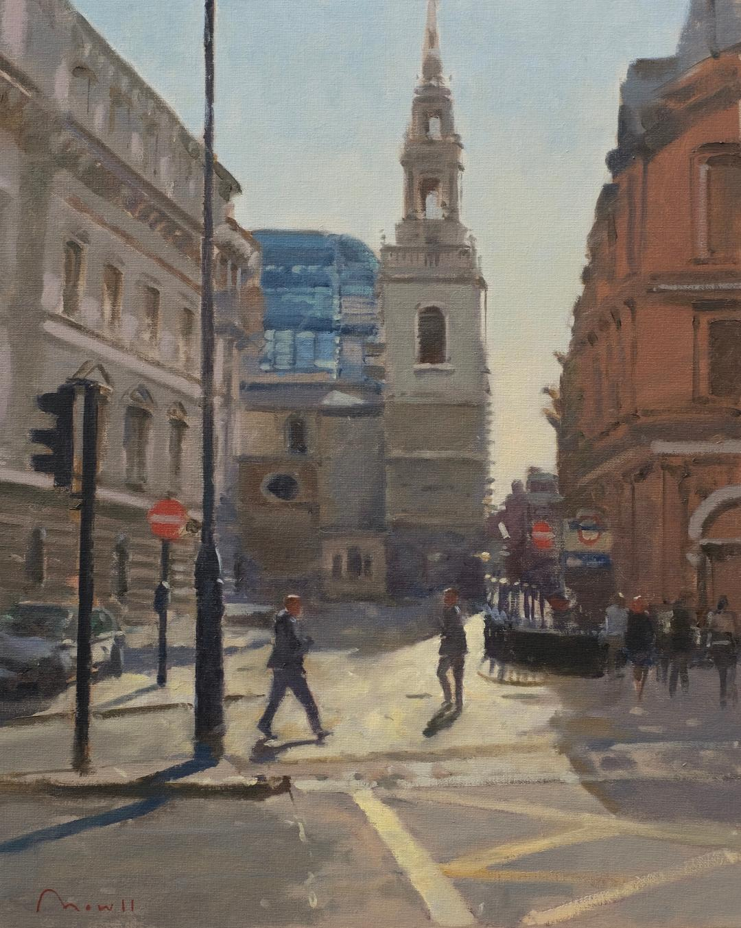 Summer in the City, Towards St. Stephen's Walbrook - Reference: BM/0519/916x20