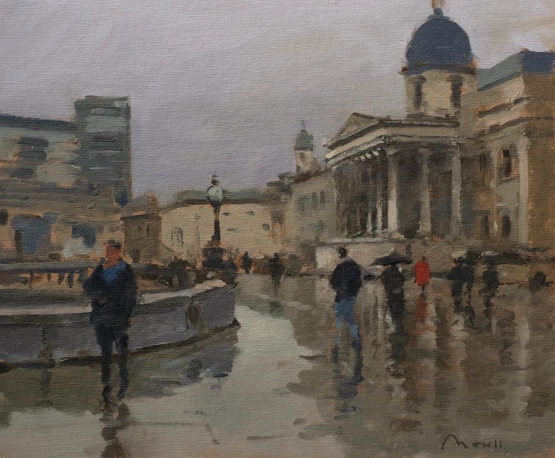 Rain and reflections, Trafalgar Square, London - Reference: BM/0519/1110x12