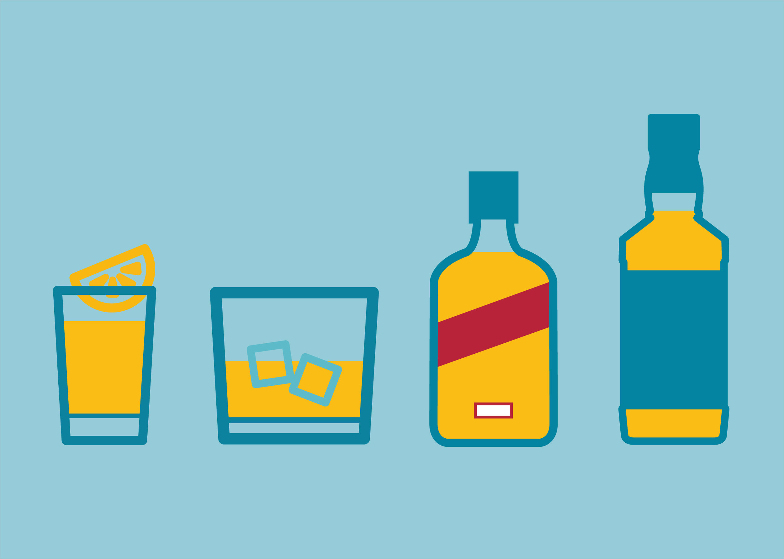 Just 7 double rum and cokes will send you to the weekly alcohol limit.