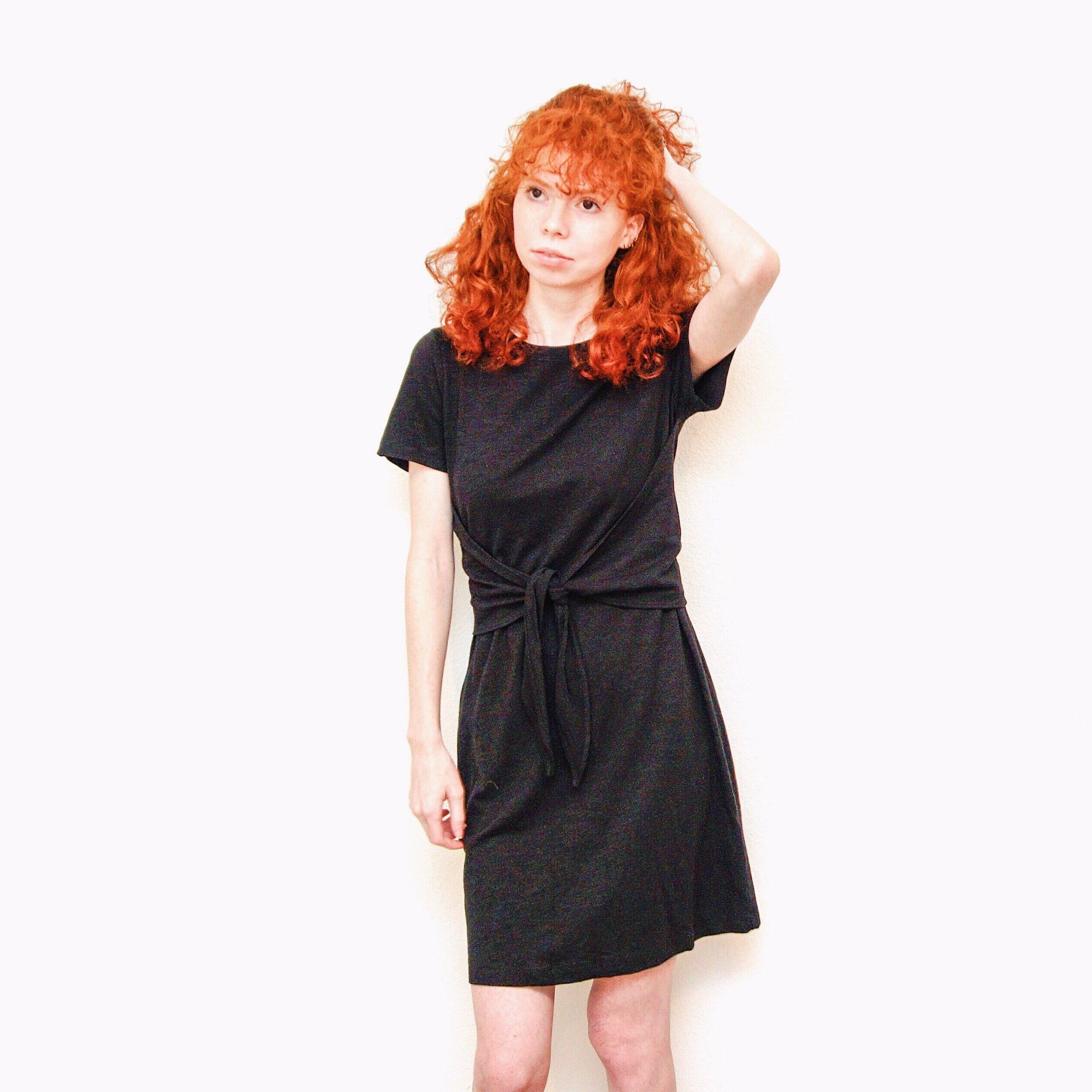 girl-in-black-tee-dress