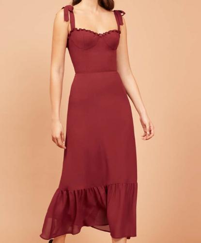 reformation-red-midi-dress