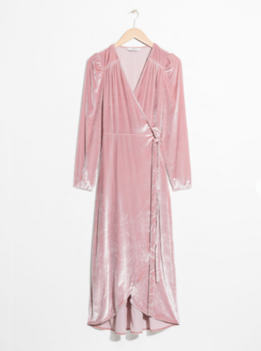 and-other-stories-pink-midi-dress