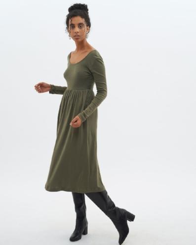 kotn-olive-dress