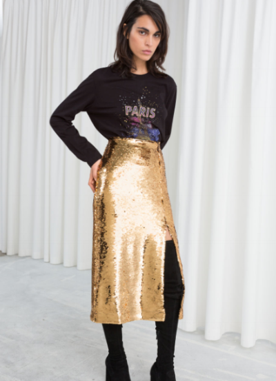 and-other-stories-gold-skirt