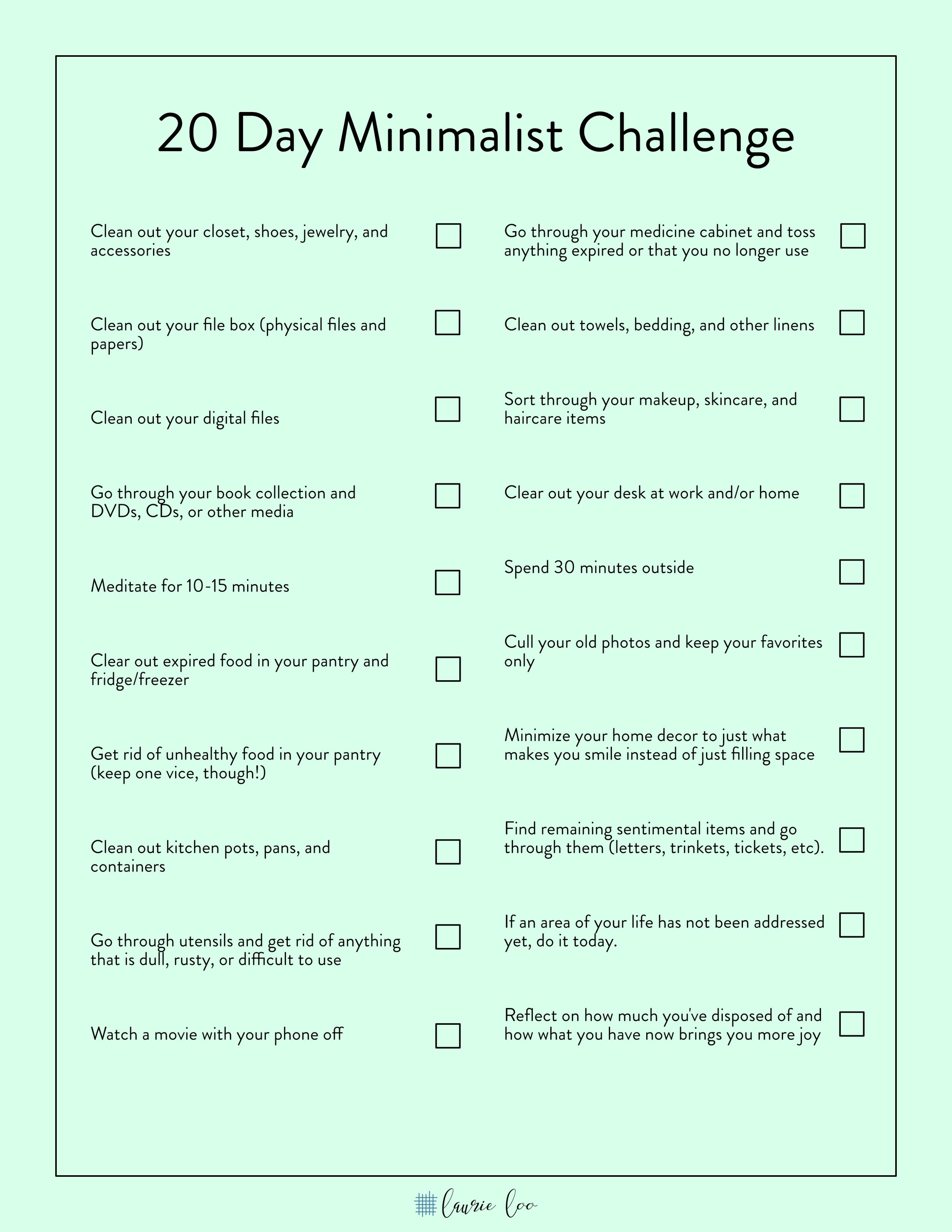20-day-minimalist-challenge