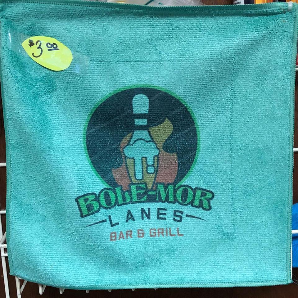 Bole-Mor Lanes Logo Microfiber Towel- $3