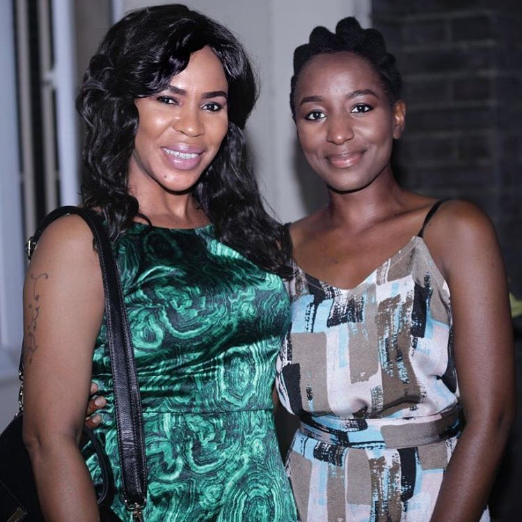 That time I met @faithiawilliamsbalogun on #OBFW and I was too shy to speak 😩🙈  If I say that I am a fan of hers, that would be a lie. There has to be a more encapsulating word that doesn't sound like I'm just being sycophantic. She is just all out amazing. She's such a pleasure to work with, so patient *and* she gave me some pointers with my lines on set. So, there's my claim to fame. Hashtag winning ☺️
