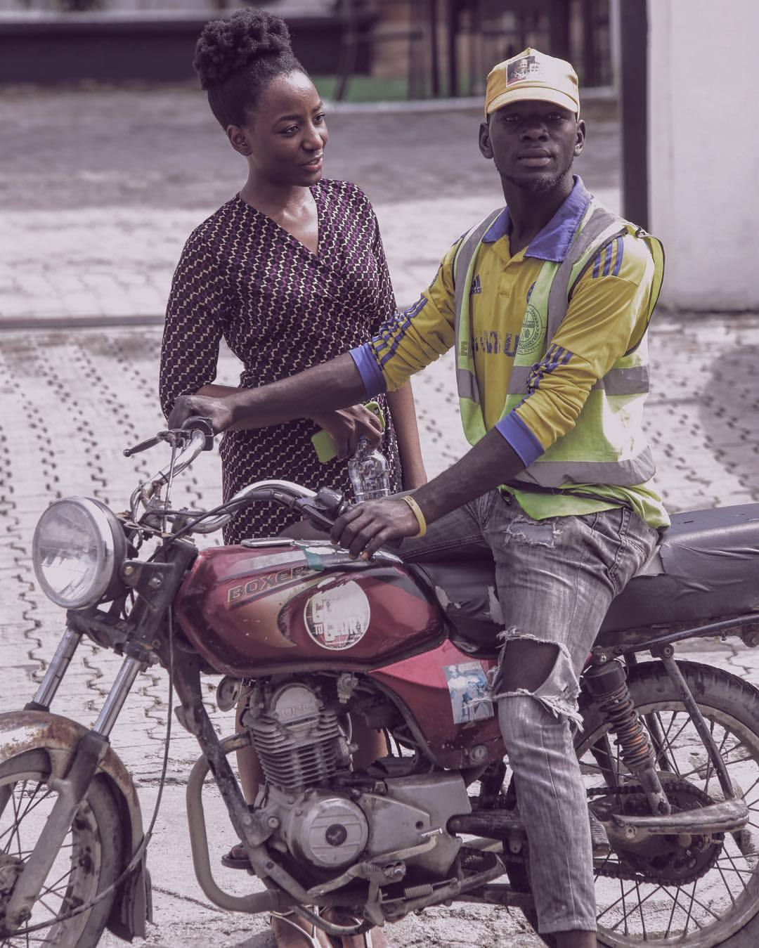 I was gunning for a ride, Tuface's brother (as he calls himself) spots @may16thphotography across the street, stops to have his picture taken and then asks for payment - because celebrities don't take pictures for free ☺️   Great guy.   #throwback