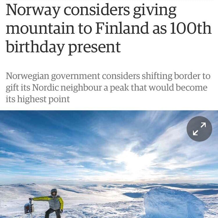 Tag a friend of yours that's most likely to do this kind of epic grand gesture.   Mine's @laralax22 and possibly @temisanimomoh they low key scare me with the random acts of kindness they put out into the universe.       #CheerfulGiver #HappyBirthday #Norway from #Finland article in @guardian.