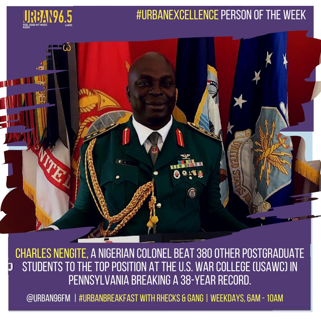 On Wednesdays, Urban96 celebrates high achievers in Urban Excellence.       http://www.flatimes.com/2016/06/charles-nengite-nigerian-colonel-emerges-best-graduand-u.s-war-college-photos.html?m=1