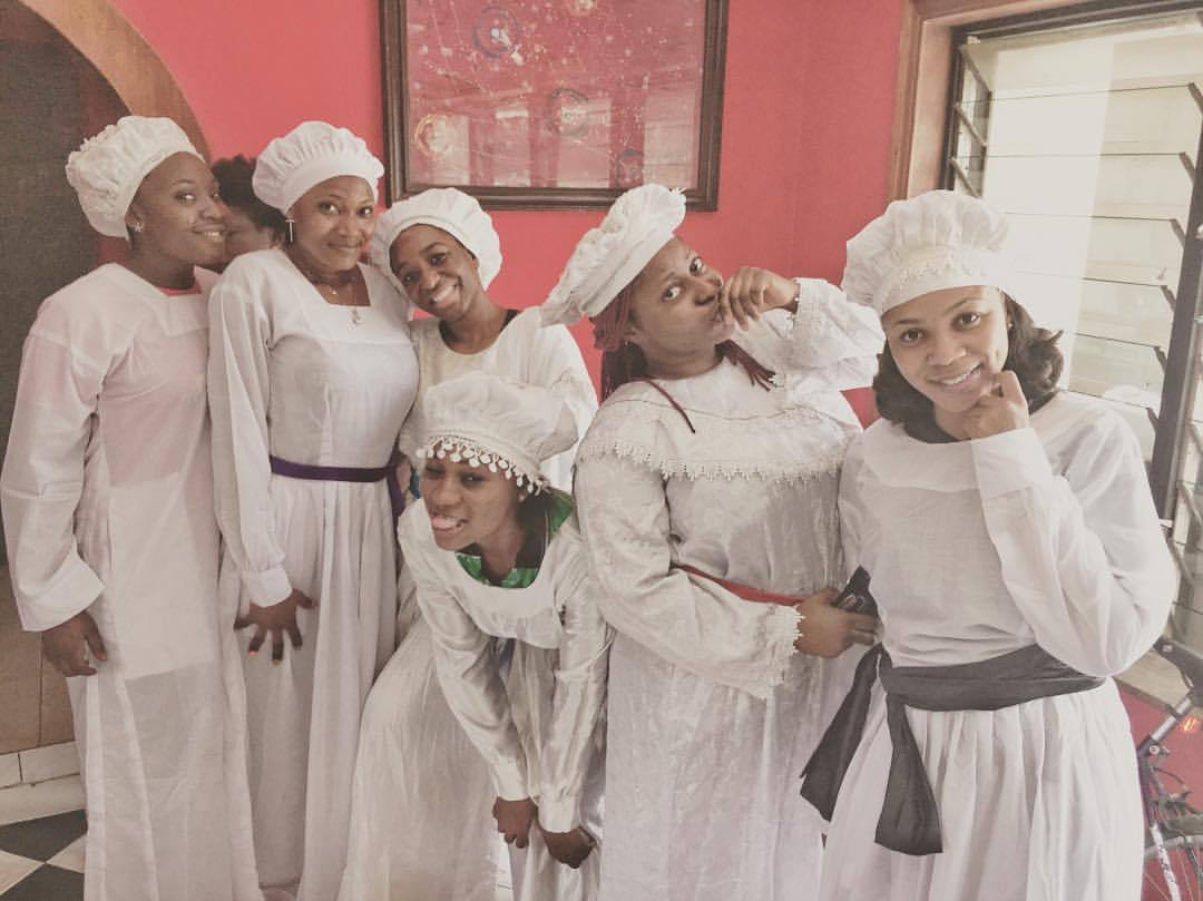 Come for the pre-party to your church service today:   3PM and 7PM at RaddisonBlu Anchorage Hotel, Lagos to see these #DaughtersOfEve and #BrotherJero in @kennethuphopho's adaptation of Wole Soyinka's 'The Trials of Brother Jero'.