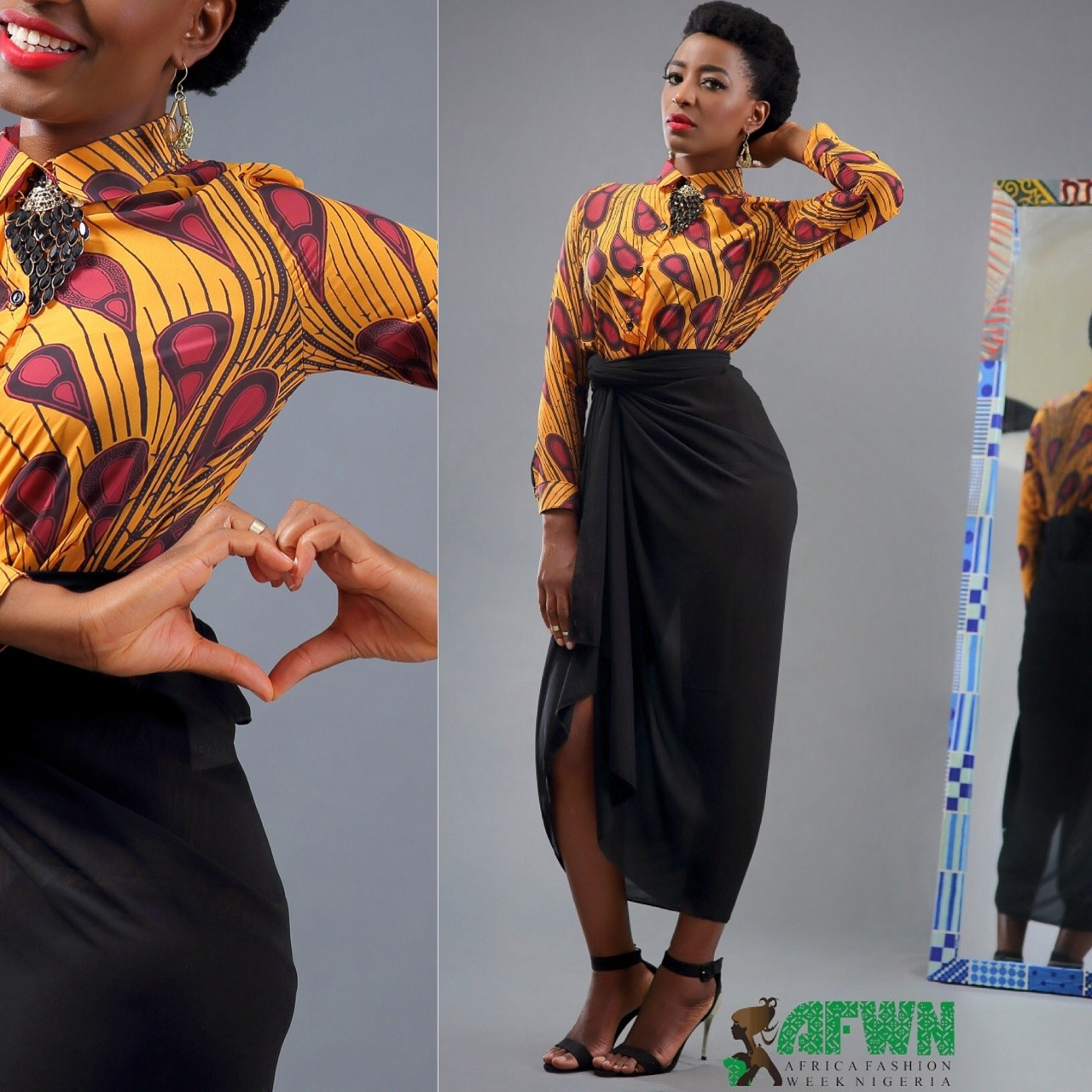 Does this count as #IroAndBuba or is it a #Blouse and #Sarong?     #AFWNContest is still on, see  http://africafashionweeknigeria.com/competitions/contest-evolution-of-iro-and-buba/  for full details on the contest and what's up for you to win. You can also send your images to marketing@africafashionweeknigeria.com