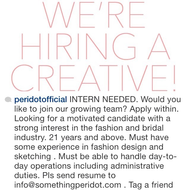 Did you wake up wanting more bang for your career buck? Hop over to @peridotofficial, they are hiring.   #RhecksOn people and brands that inspire everyday of the week.