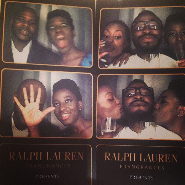 My favourite people in one #FunBox photo booth @octhegreatukeje @lamide_a #CocaineBiceps #RalphLauren #PoloSupremeOud #Fragrance @DecemberInLagos