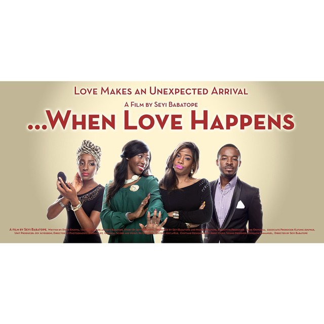 Spotted on @nollywoodmindspace's twitter handle #WhenLoveHappens arriving in Nigerian cinemas in October 👯 #Nollywood