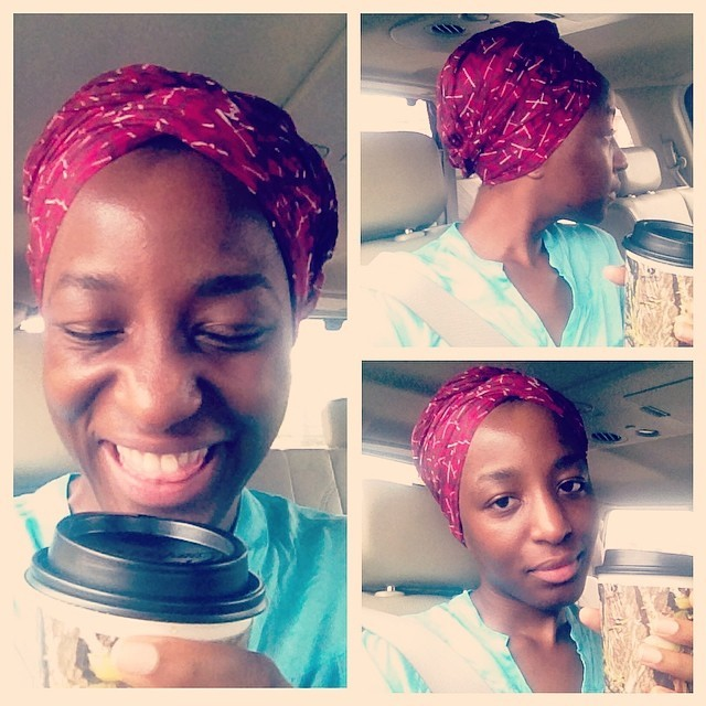 What do you do when you are running late for rehearsals? Sip on some caffeine free peppermint & bamboo tea (shout out @sizzelle for the hook up) and take some unnecessary in-car selfies.   #ForColoredGirls #Turbanista