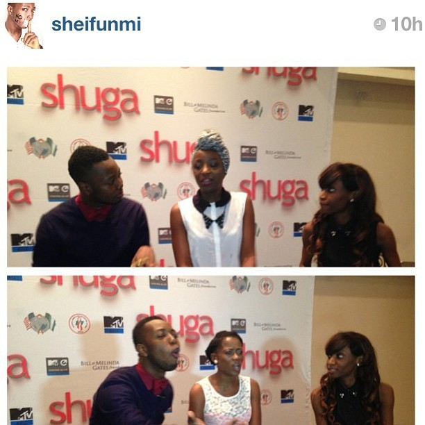 Leave @sheifunmi and I alone and we will natter on for days. My Tuesday evening with #MTV #Shuga #Nigeria