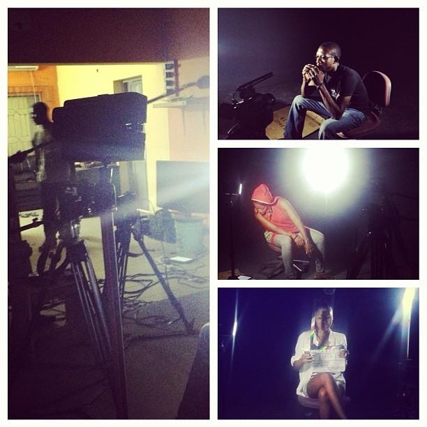 My #Saturday in #Lagos #Lights #Camera #Sanchez #Banjo #Tatafo #Movie makers. I think it's a wrap!