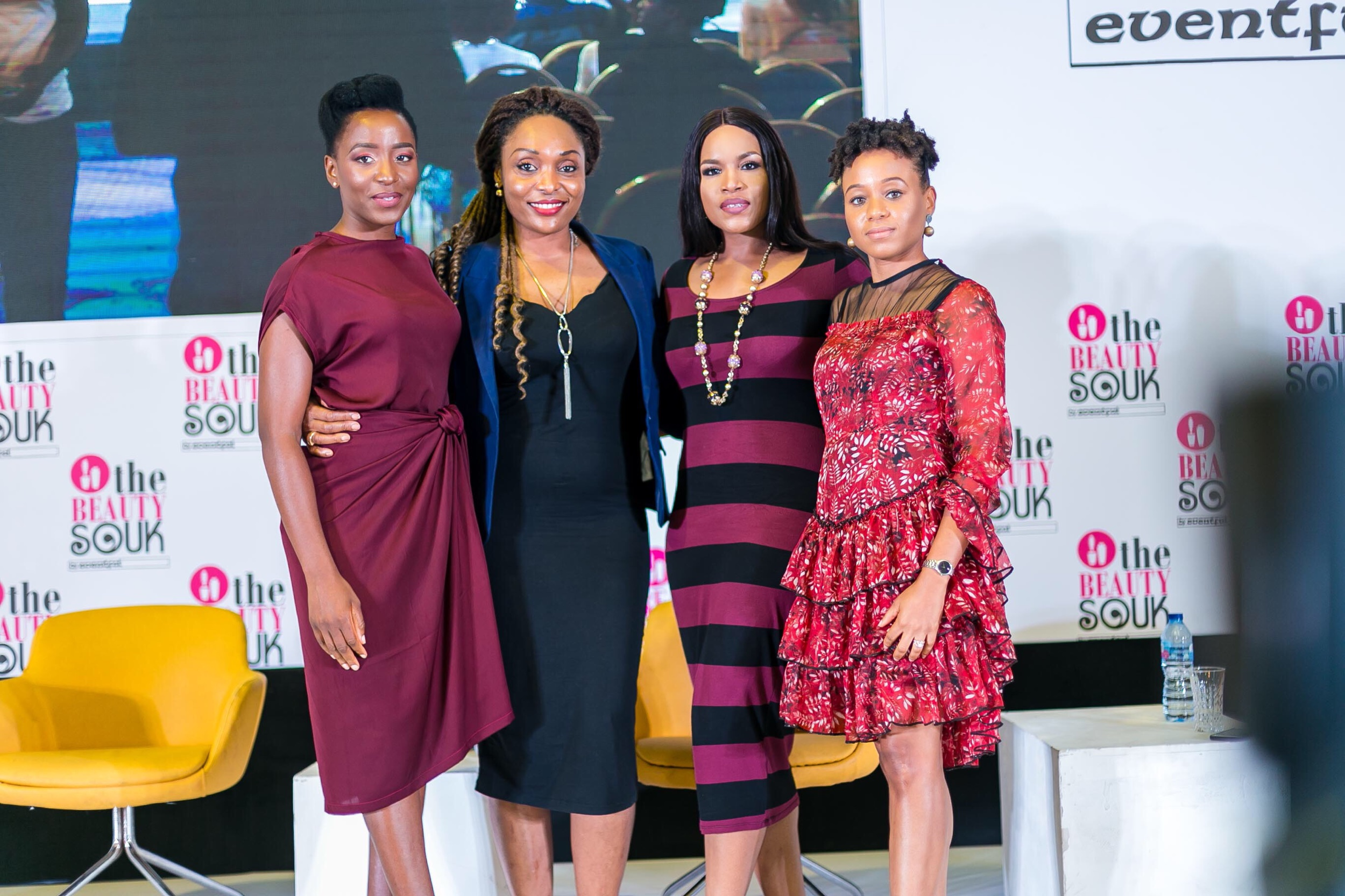 L-R by Instagram handles: @orekagodis, @kemilewis of @klsnaturals, Elaine Shobanjo of @shomya_lag and Koyinsola Vera Cruz of @tressesbykvc