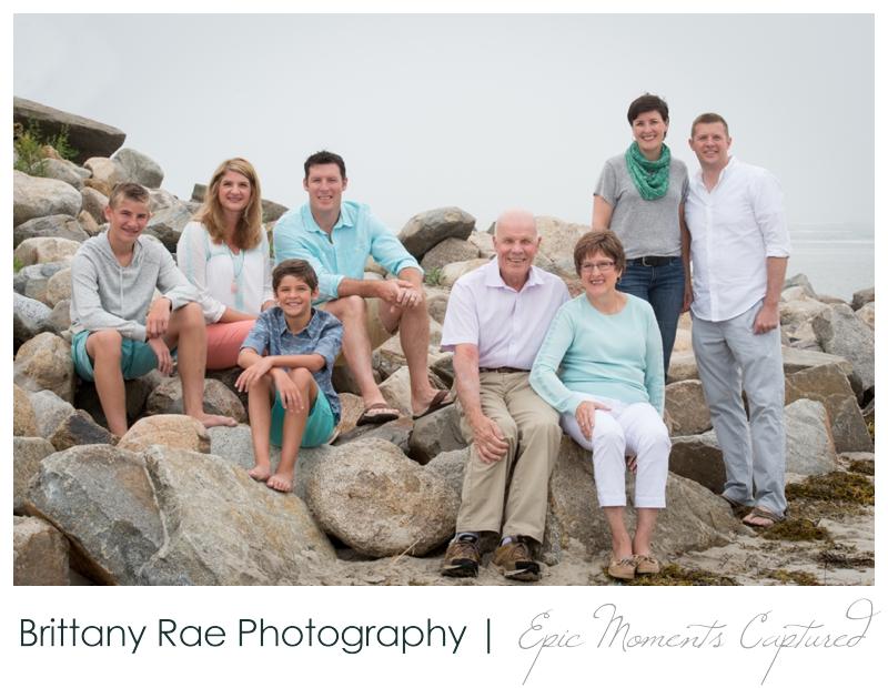 Ogunquit Family Photos - family on rocks at beach