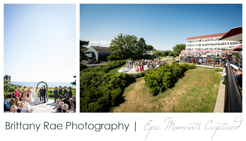 The Colony Hotel Wedding in Kennebunkport Maine - The Colony Ceremony Site