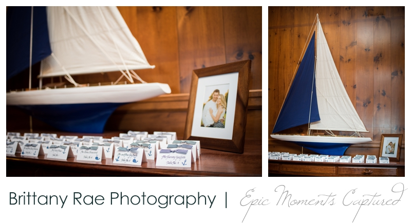 The Colony Hotel Wedding in Kennebunkport Maine - nautical place cards
