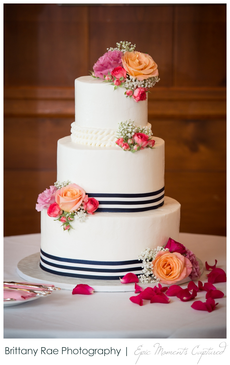 The Colony Hotel Wedding in Kennebunkport Maine - nautical wedding cake