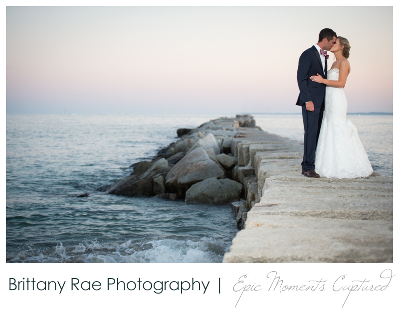 The Colony Hotel Wedding in Kennebunkport Maine - Breakwater wedding portraits