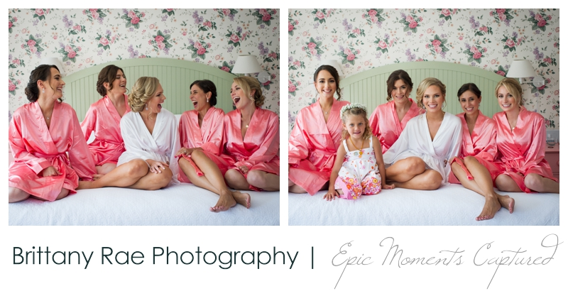 The Colony Hotel Wedding in Kennebunkport Maine - matching bridesmaid robes