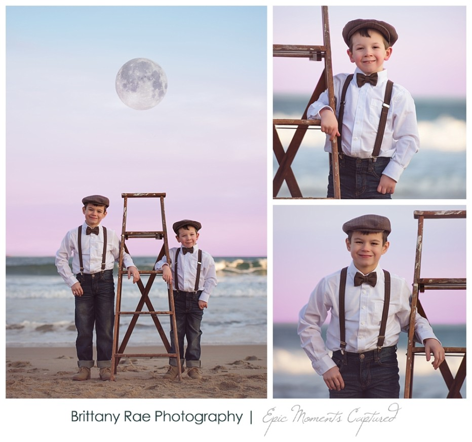 Children's Fine Art Fantasy Portraits in Maine - Pixar La Luna Inspired Shoot