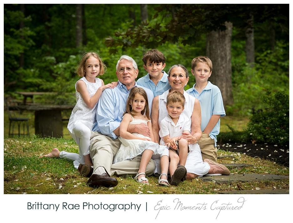 New Hampshire Family Portraits - Grandparents with Grandkids