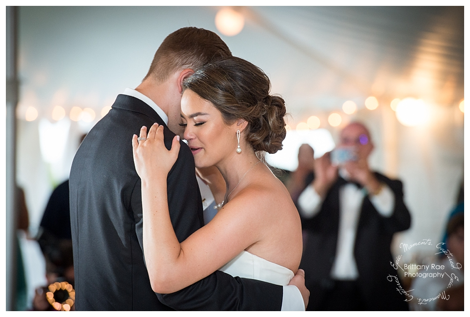 Ocean Park Maine Destination Wedding, Cape Elizabeth - Tented first dance
