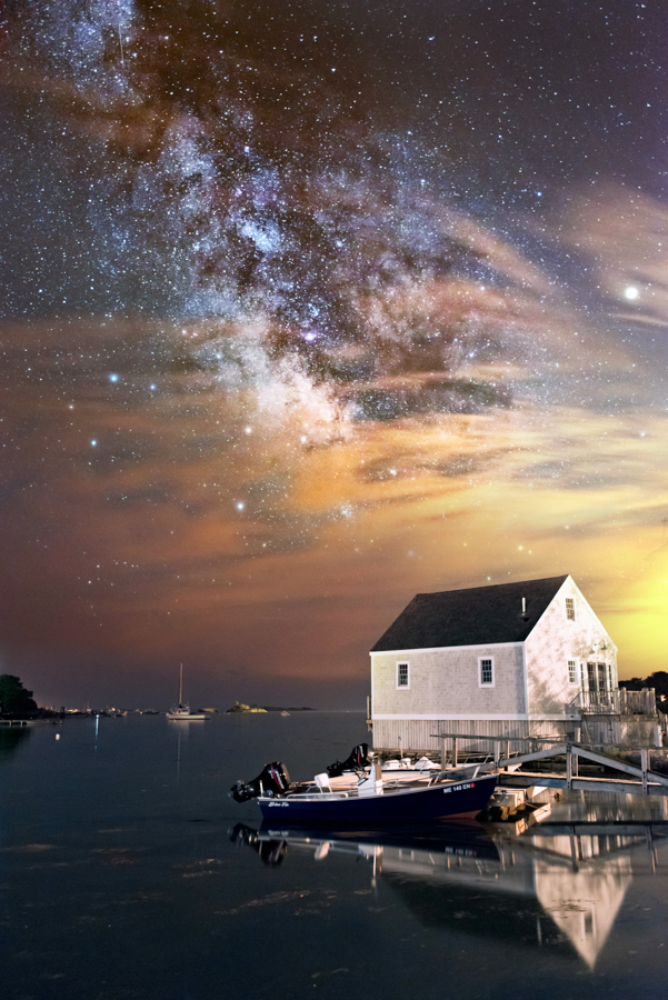 Night Sky Photography - Cape Porpoise - Kennebunkport