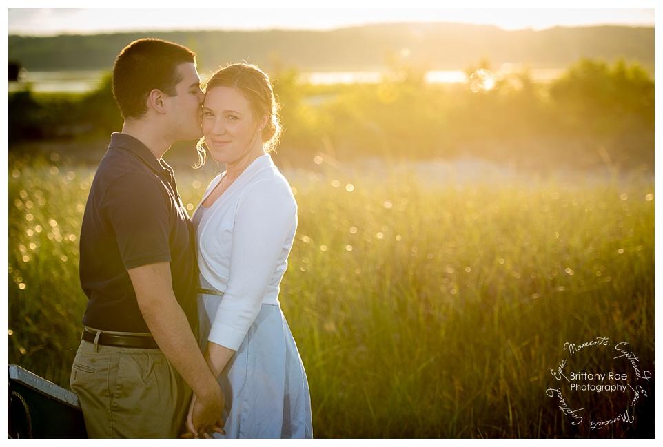Ocean Engagement Portraits Maine Wedding Photographers - Sunset Engagement