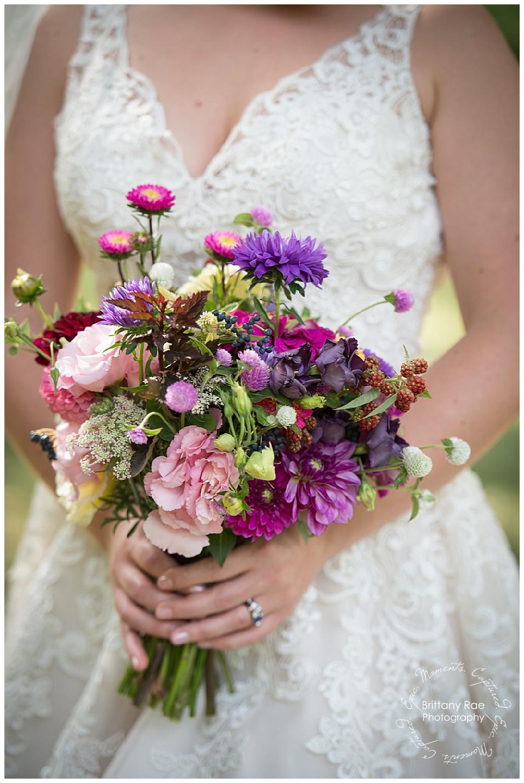 Backyard Tented Wedding in Buxton Maine - Snell Family Farm Wedding Bouquet