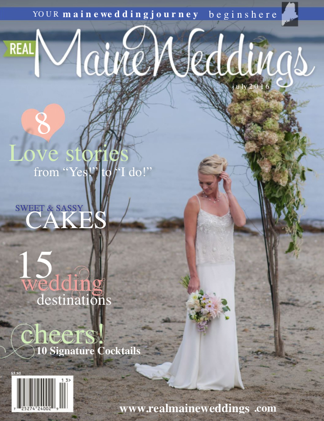 Real Maine Weddings Magazine Published Maine Wedding Photographer - 1