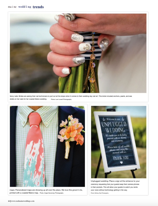 Real Maine Weddings Magazine Published Maine Wedding Photographer - 2