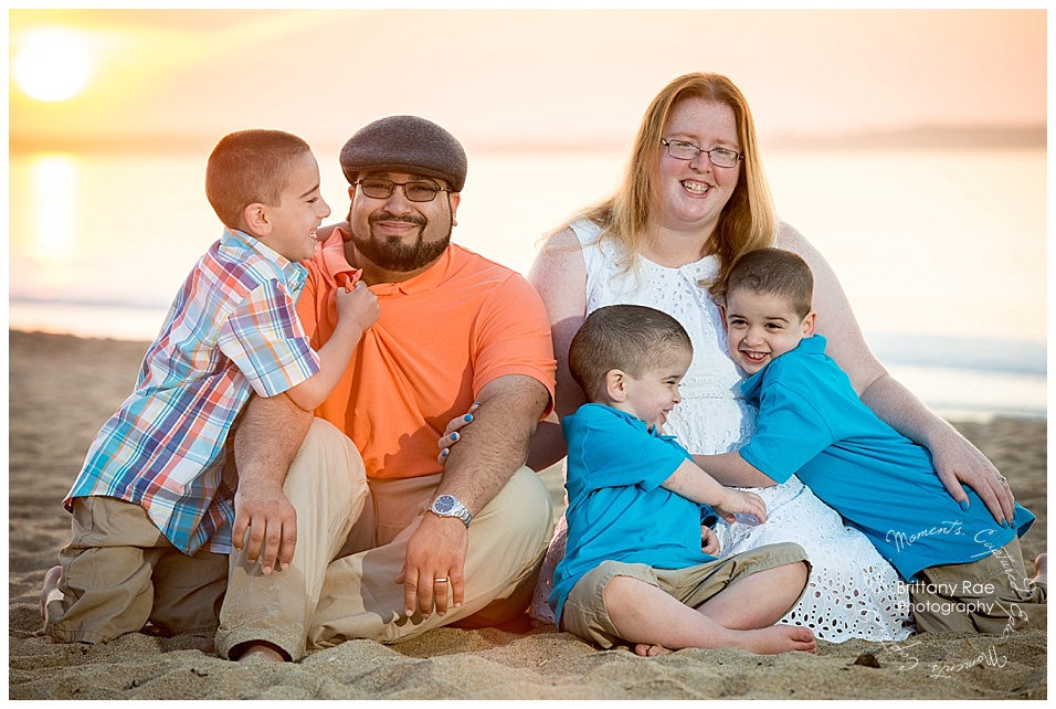 Sunrise Old Orchard Beach Family Portraits in Maine -