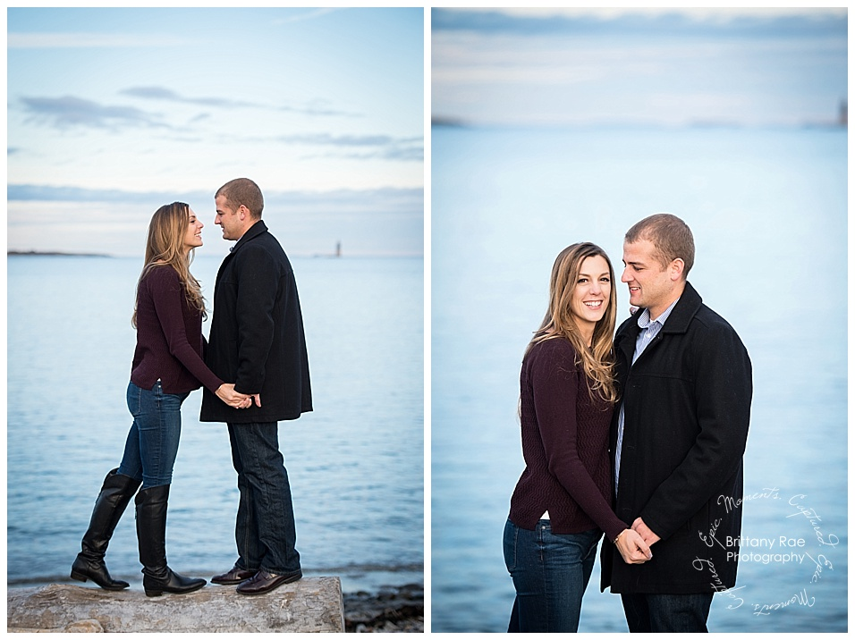 Portland Engagement and Portland Headlight engagement by Maine Wedding Photographers -