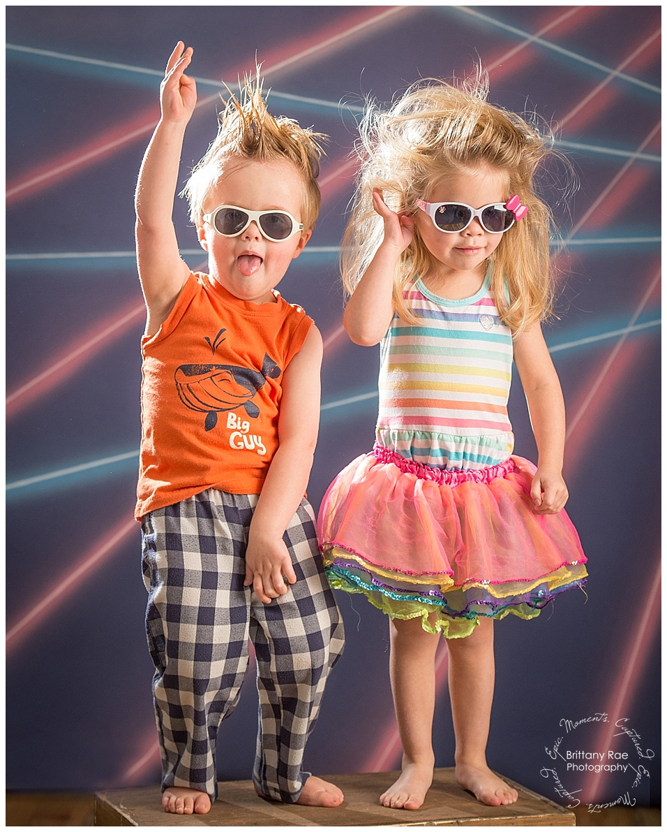 Awkward Family Photos by Maine Family Photographers - Laser Backdrop