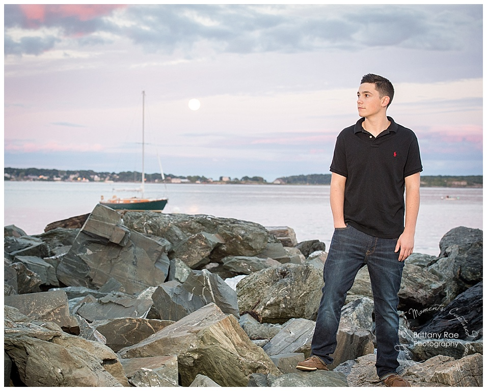 Maine High School Senior Portraits - East End Beach Senior Portraits