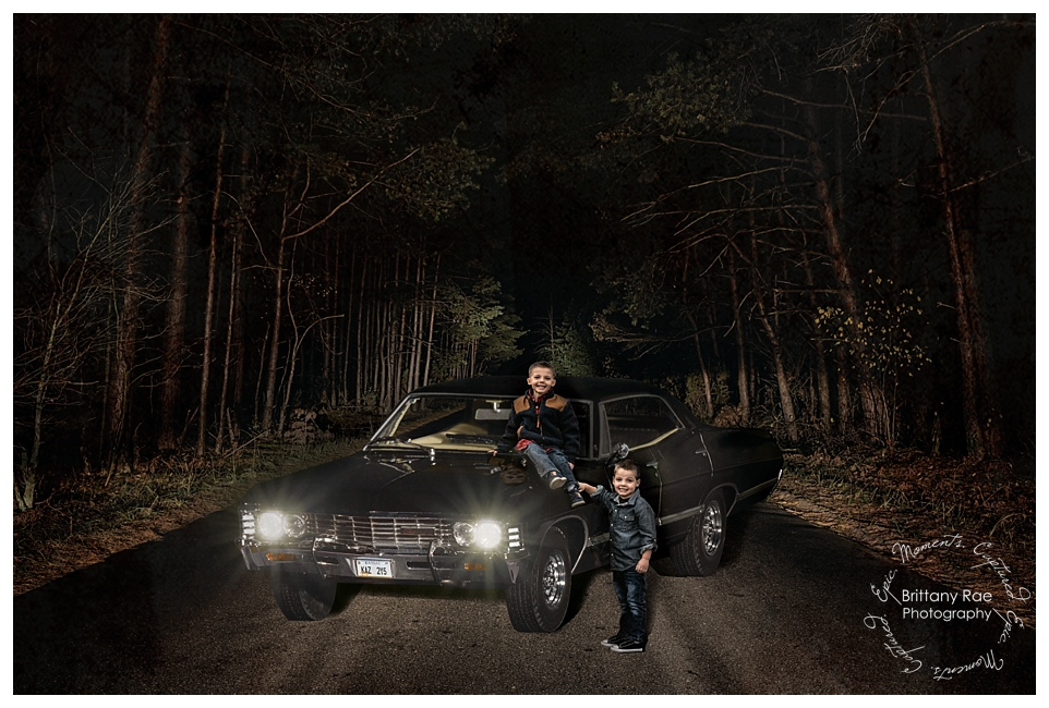 Supernatural Inspired Fantasy Fine Art Portraits by Maine Portrait Photographer - Sam and Dean Winchester
