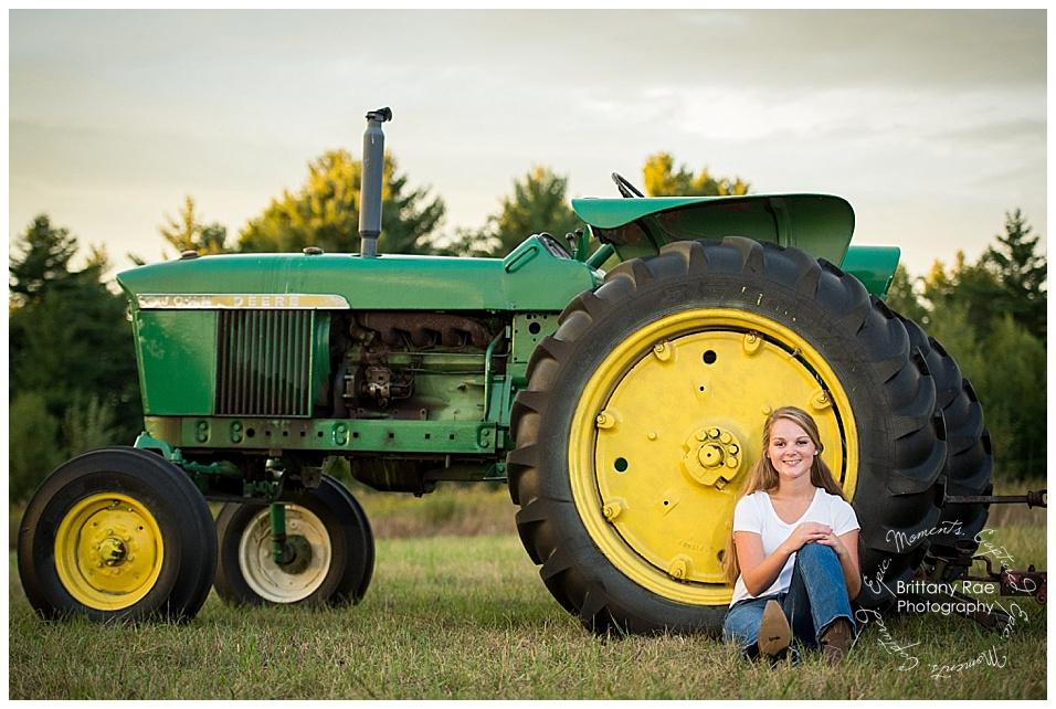 Kennebunk Class of 2017 High School Senior Portraits - High School Senior Portraits with Tractor
