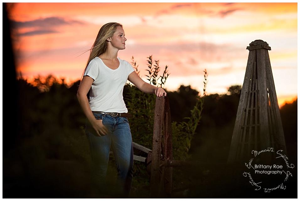Kennebunk Class of 2017 High School Senior Portraits - Sunset senior Portraits