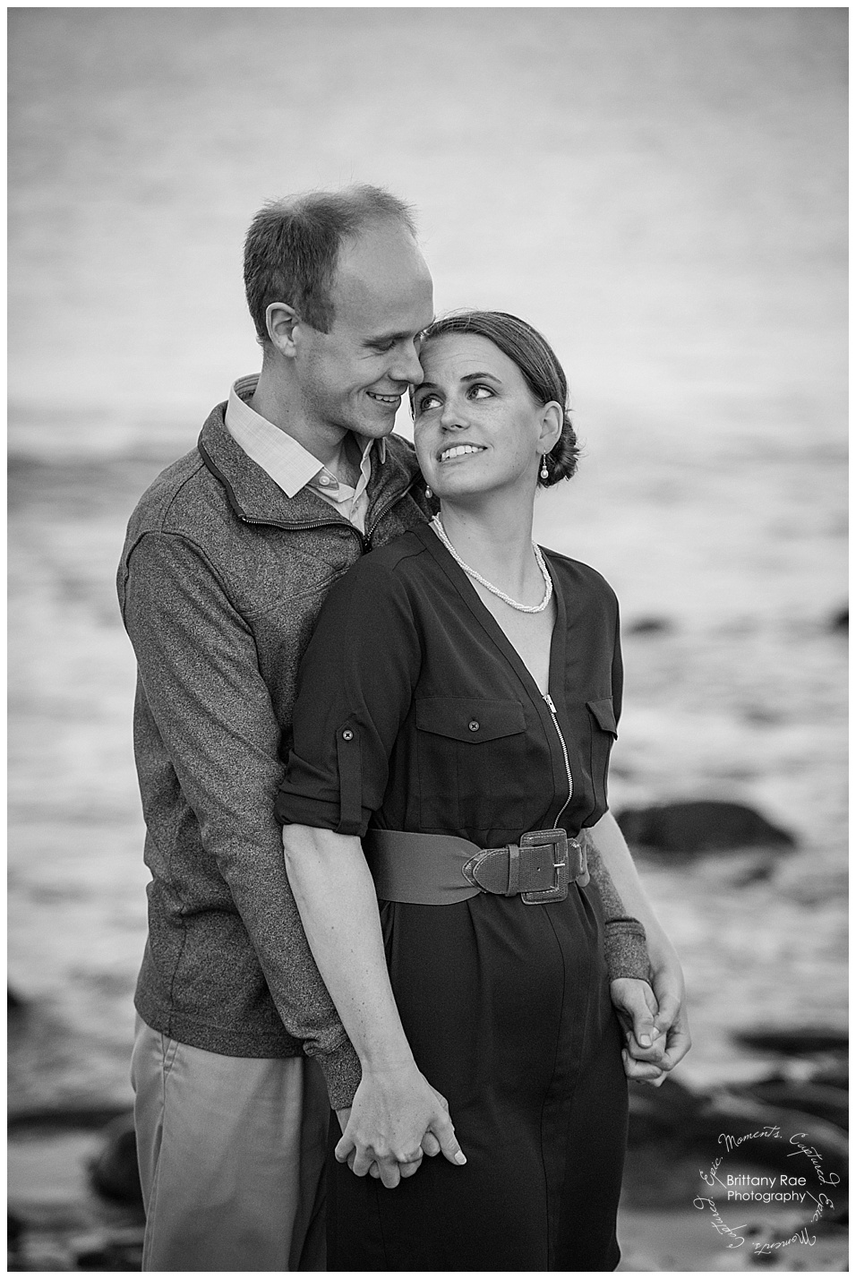 portland engagement session in Portland's Old Port and Portland Headlight -