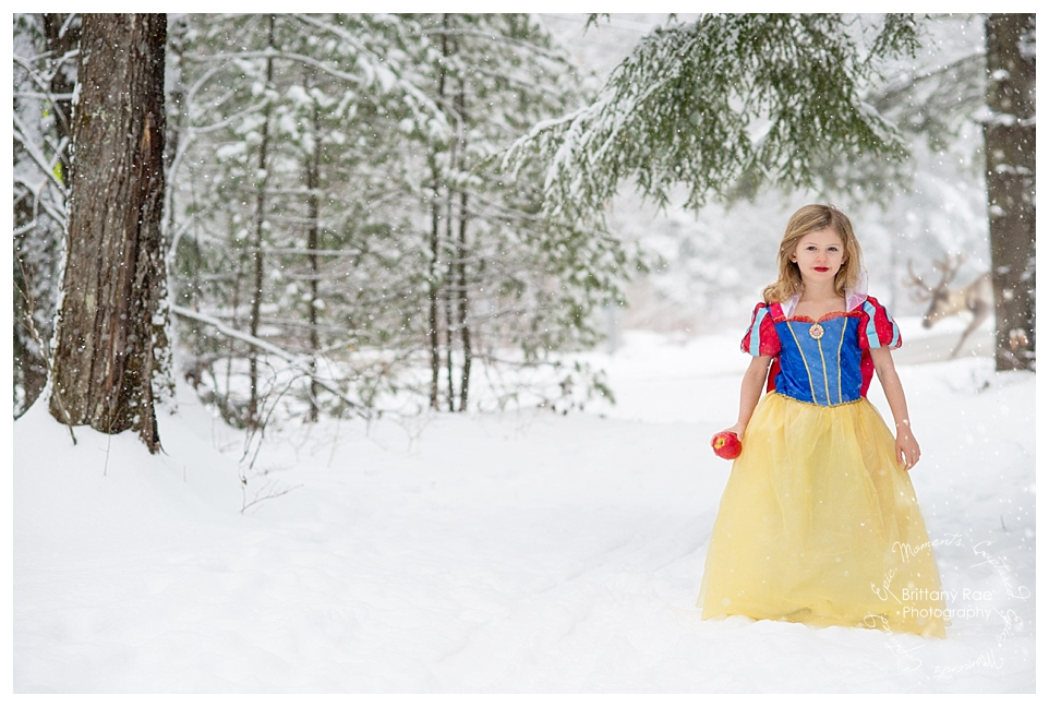Best Family Portraits by Maine Family Photographers - Snow White Themed Photoshoot